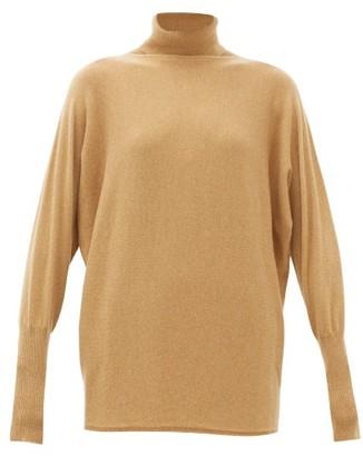 Johnstons of Elgin Johnston's Of Elgin - Batwing-sleeve Cashmere Roll-neck Sweater - Camel