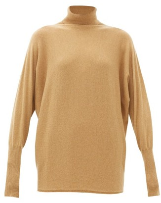 Johnstons of Elgin Johnston's Of Elgin - Batwing-sleeve Cashmere Roll-neck Sweater - Womens - Camel