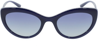 Dolce & Gabbana Blue Slim Cat Eye Sunglasses