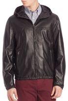 Salvatore Ferragamo Reversible Leather Hooded Jacket