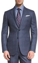 Ermenegildo Zegna Trofeo 600 Plaid Two-Piece Suit, Blue