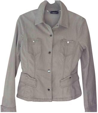 Trussardi Jeans Beige Cotton Leather Jacket for Women