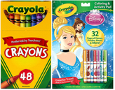 Crayola Disney Princess Activity Book & 48-Ct. Crayon Set