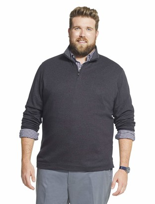 Geoffrey Beene Men's Big & Tall Big and Tall Long Sleeve Stretch Twill 1/4 Zip Pullover