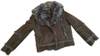 Joseph Khaki Shearling Coat for Women
