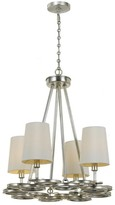 The Well Appointed House Crystorama by Libby Langdon Graham 4 Light Antique Silver Chandelier