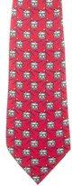 Hermes Drum Print Silk Tie