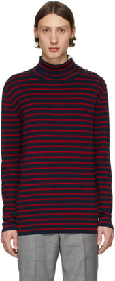 Tiger of Sweden Navy and Red Hamper Sweater