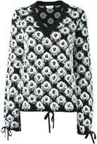 Chloé frayed intarsia jumper