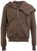 Rick Owens zip up asymmetric hoodie