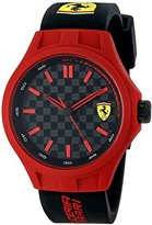 Ferrari Men's 0830194 Pit Crew Watch with Black Band