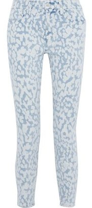 Current/Elliott The Stiletto Cropped Bleached High-rise Skinny Jeans