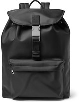 A.P.C. Canvas-trimmed Shell Backpack - Black