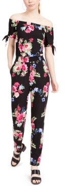 Planet Gold Juniors' Yummy Off-The-Shoulder Jumpsuit