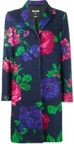 MSGM floral single breasted coat - women - Polyamide/Viscose/Wool - 38