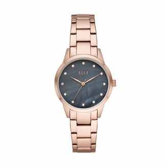 Elle Molitor Three-Hand Rose Gold-Tone Stainless Steel Watch
