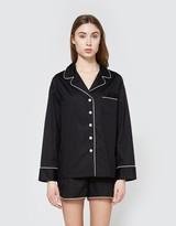 Black Pajama Shorts Set