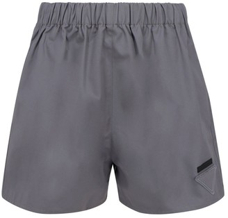 Prada Logo Patch Shorts