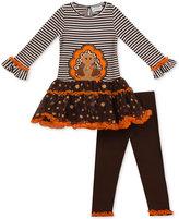 Rare Editions 2-Pc. Turkey Thanksgiving Tunic and Leggings Set, Little Girls (4-6X)