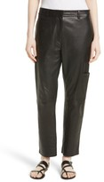 Theory Women's Thorelle L Noble Crop Leather Pants