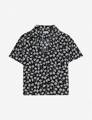 Claudie Pierlot Cambridge floral-print crepe shirt