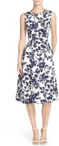 Eliza J Women's Floral Print Faille Midi Dress