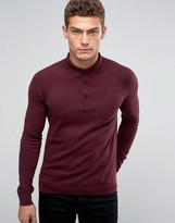 United Colors Of Benetton Cashmere Blend Long Sleeve Knitted Polo