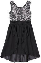 Speechless Girls 7-16 Skirt Overlay Lace Dress