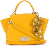 Zac Posen floral applique satchel