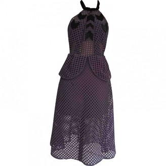 Self-Portrait Purple Dress for Women