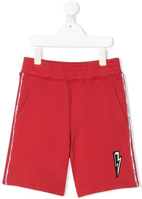 Neil Barrett Kids Logo-Trimmed Track Short