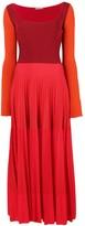 Alexander McQueen long-sleeve flared dress