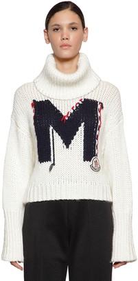 Moncler Logo Acrylic Blend Knit Sweater