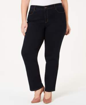 Charter Club Plus Size & Petite Plus Size Lexington Tummy-Control Straight-Leg Jeans, Created for Macy's