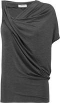 Bailey 44 Tempest asymmetric draped stretch-jersey top