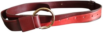 Diane von Furstenberg Burgundy Leather Belts