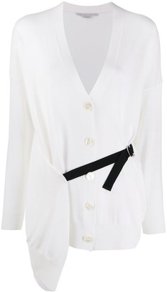 Stella McCartney Wrap-Style Buckle-Strap Cardigan
