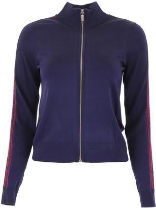 MICHAEL Michael Kors Zipped Logo Track Sweater
