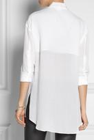 Helmut Lang Oversized washed-crepe shirt