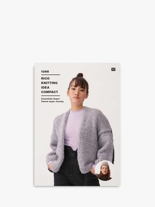 Rico Design Super Chunky Tweed Women's Cardigan Knitting Pattern