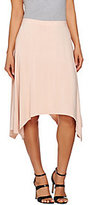 As Is H by Halston Pull-On Knit Handkerchief Hem Skirt