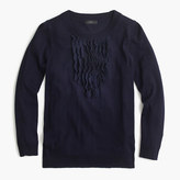 J.Crew Petite Tippi sweater with ruffles