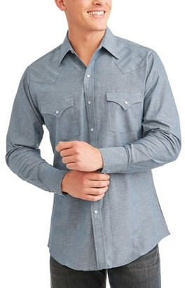 Ely Cattleman Mens Long Sleeve Chambray Western