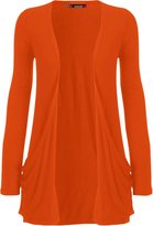 WearAll Women's Long Sleeve Pocket Cardigan - US (UK 12-14)