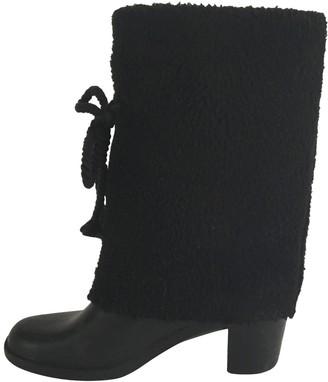 Marc Jacobs Black Rubber Ankle boots