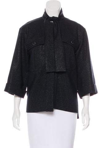Chanel Metallic Wool Jacket