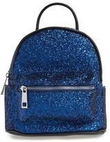 Street Level Glitter Zip Backpack - Blue