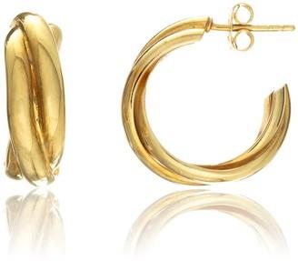 Auree Jewellery Knightsbridge Yellow Gold Vermeil Triple Hoop Earrings