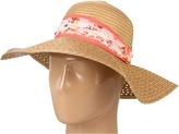 Thumbnail for your product : BCBGeneration Lacey Weave Floral Floppy Hat (Sand) - Hats