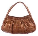Nancy Gonzalez Crocodile Pleated Handle Bag